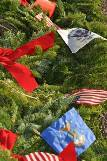 Greenwood Wreath and Flags