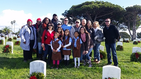 Hitachi Data Systems at Wreaths Across America San Diego 2014 Event